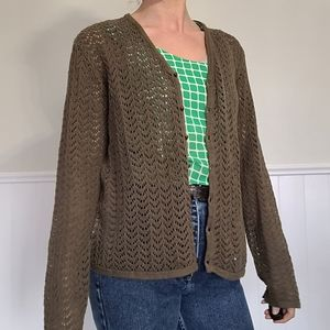 Vintage knit/crochet cardigan long sleeve